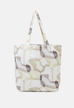 STUDIO ID - TOTE BAG PRINT UNISEX - Shopping bag - off-white