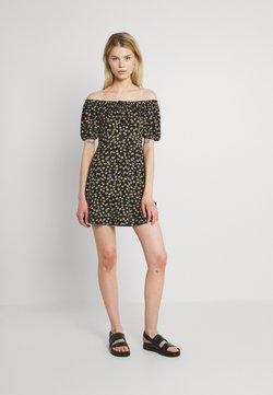 JDY - JDYGITTE SVAN OFF SHOULDER DRESS - Jerseykleid - black/yellow
