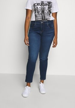 Levi's® Plus - SHAPING SKINNY - Skinny-Farkut - london dark indigo