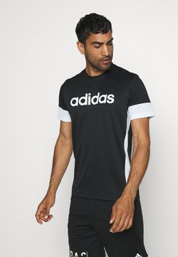 adidas Performance - TEE - Printtipaita - black/white
