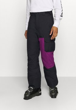 Columbia - HERO SNOWPANT - Pantalon de ski - black/plum