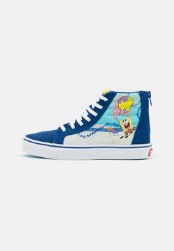 Vans - UY VANS X SPONGEBOB SK8-HI ZIP UNISEX - Baskets montantes - dark blue/multicolor