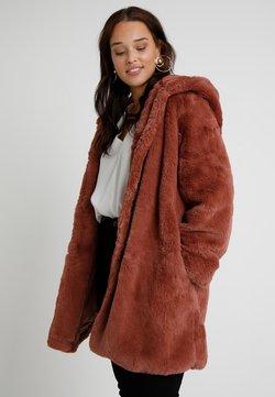 Urban Classics Curvy - LADIES HOODED COAT - Veste d'hiver - darkrose