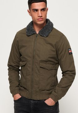 Superdry - ROOKIE IM FLIEGERSTIL - Giubbotto Bomber - military khaki