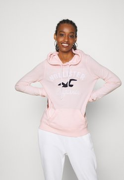 Hollister Co. - TERRY TECH CORE - Kapuzenpullover - pink