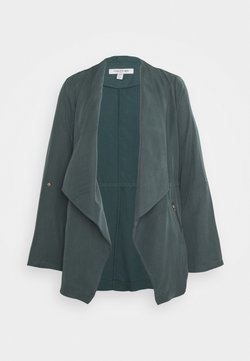 Forever New - KAT ZIP DETAIL WATERFALL JACKET - Blazer - pine blue