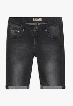 Blue Effect - BOYS STREIFEN - Jeansshort - black soft used