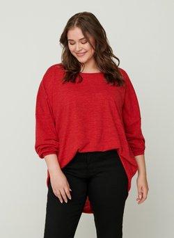 Zizzi - MIT LANGEN ÄRMELN - Bluse - red