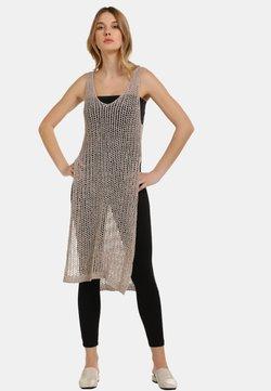 usha - KLEID - Vestido de punto - taupe