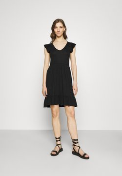 JDY - JDYDITTE V NECK DRESS - Vestido ligero - black