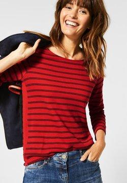 Cecil - MIT STREIFEN - Langarmshirt - red