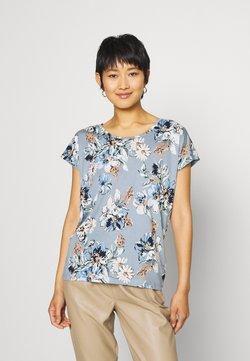 Soyaconcept - SC-FELICITY AOP 297 - T-Shirt print - dusty blue combi