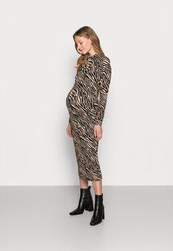 MAMALICIOUS - MLSAIDY DRESS - Jerseykleid - black/oatmeal