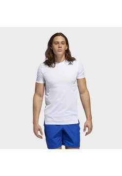 adidas Performance - HEAT.RDY TRAINING T-SHIRT - Camiseta estampada - white