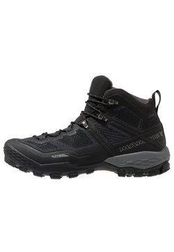 Mammut - DUCAN MID GTX - Hiking shoes - black/dark titanium