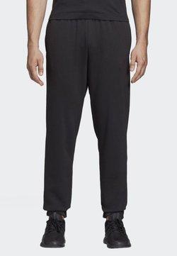 adidas Performance - ESSENTIALS LINEAR TAPERED PANTS - Verryttelyhousut - black