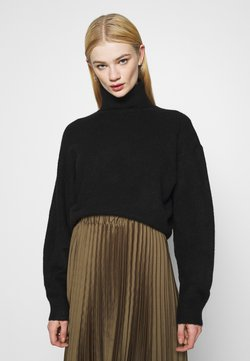 Weekday - AGGIE TURTLENECK - Strickpullover - black