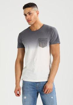 Pier One - T-shirt con stampa - white/grey