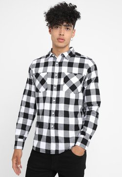 Urban Classics - CHECKED SHIRT - Hemd - black/white