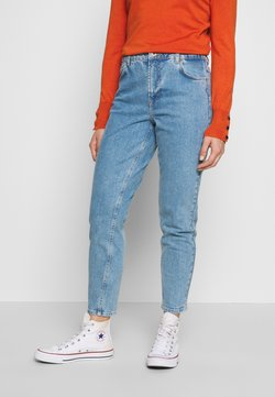 Pieces Petite - LEAH MOM ELASTIC WAIST - Jeans Relaxed Fit - light blue denim