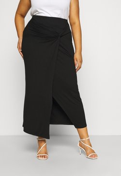 CAPSULE by Simply Be - WRAP MIDAXI SKIRT - Jupe crayon - black