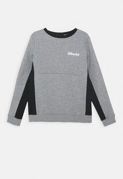 Nike Sportswear - AIR CREW - Sweatshirt - dark grey heather/black