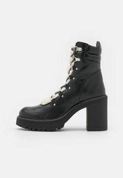 Pinko - SALES TRONCHETTO LISCIO SIMIL  - Lace-up ankle boots - black