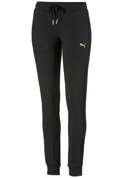 Puma - PUMA FLEECE WOMEN'S TRACK PANTS FEMMES - Verryttelyhousut -  black