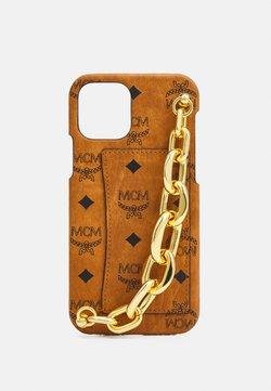 MCM - VISETOS ORIGINAL SMART PHONE CASE - Kännykkäpussi - cognac