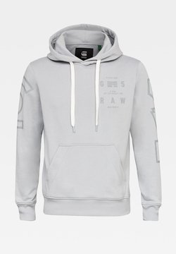G-Star - CORE GRAPHIC HOODED LONG SLEEVE - Sweat à capuche - correct grey