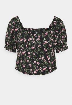 ONLY Petite - ONLPELLA V NECK - T-Shirt print - black