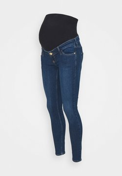 River Island Maternity - MEDIUM AMELIE MAT OVERBUMP GEORGIE - Jeans Skinny Fit - medium blue