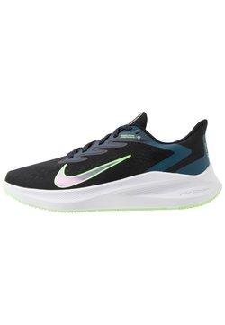 Nike Performance - ZOOM WINFLO  - Juoksukenkä/neutraalit - black/vapor green/valerian blue