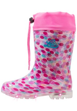 LICO - POWER BLINKY - Wellies - pink/rosa/türkis
