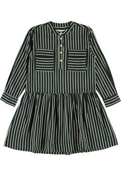 Molo - CACAO - Blusenkleid - vertical bw stripe