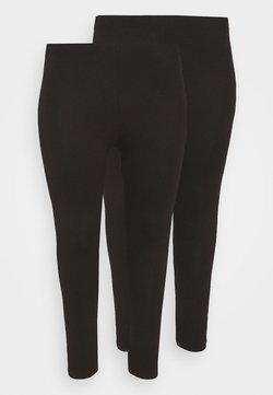 Even&Odd Curvy - 2 PACK - 7/8 LENGHT LEGGING - Legging - black