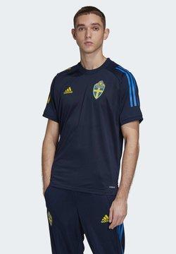 adidas Performance - SWEDEN SVFF TRAINING SHIRT - T-shirt med print - blue