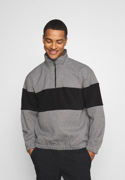 Topman - HERRINGBONE BLOCKED  - Sweatshirt - grey