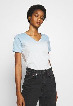 G-Star - MYSID V NECK - T-Shirt print - siali blue