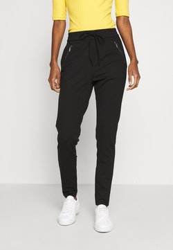 Vero Moda Tall - VMEVA LOOSE STRING ZIPPER PANT - Jogginghose - black