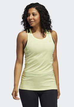 adidas Performance - RISE UP N RUN TANK TOP - Camiseta de deporte - yellow