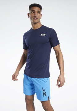 Reebok - SPEEDWICK GRAPHIC MOVE T-SHIRT - T-Shirt print - blue