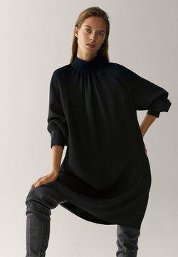 Massimo Dutti - Gebreide jurk - black