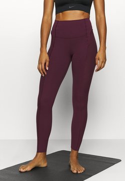 Nike Performance - YOGA - Medias - night maroon/team red