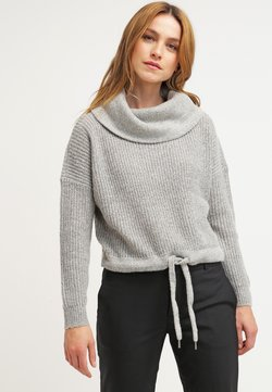 ONLY - ONLNIA ROLLNECK  - Strickpullover - light grey melange