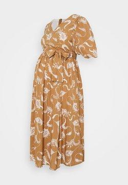 Glamorous Bloom - MIDI DRESSES WITH PUFF SLEEVES - Freizeitkleid - brown