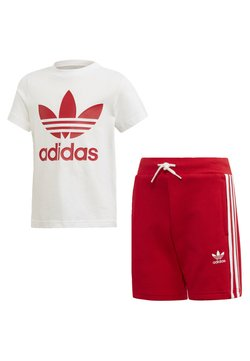 adidas Originals - TREFOIL SHORTS TEE SET - Shorts - red/white