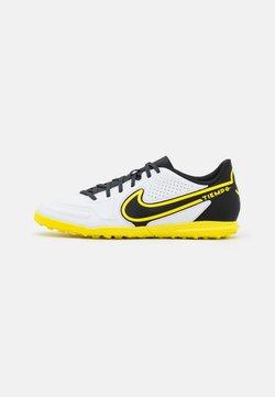 Nike Performance - TIEMPO LEGEND 9 CLUB TF - Korki Turfy - white/dark smoke grey/black/yellow strike