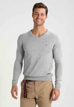 Tommy Hilfiger - V-NECK  - Strickpullover - cloud heather