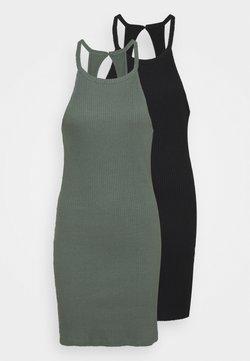 Even&Odd - 2 PACK - Vestido ligero - black/green